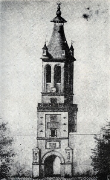 Turnul Colțea înainte de cutremurul din 1802 - foto preluat de pe: ro.wikipedia.org