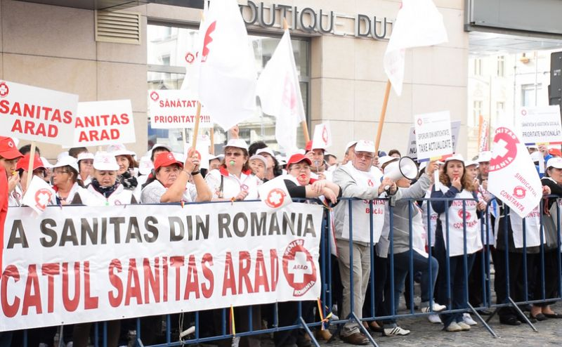 Pichet SANITAS la Ministerul Sănătăţii - foto: epochtimes-romania.com