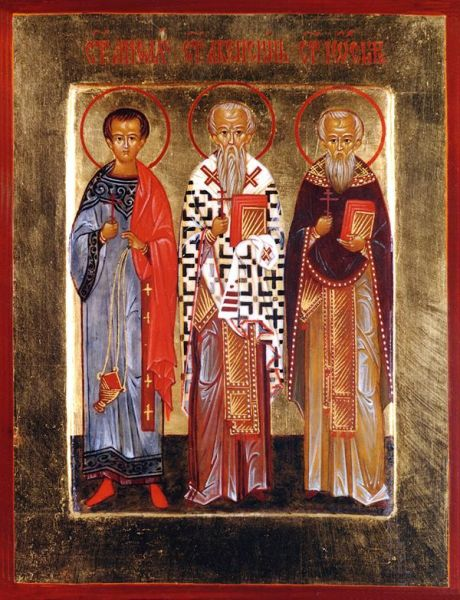 Sfinții Mucenici Achepsima, Iosif și Aitala. Prăznuirea lor de către Biserica Ortodoxă Română se face la data de 3 noiembrie - foto: doxologia.ro