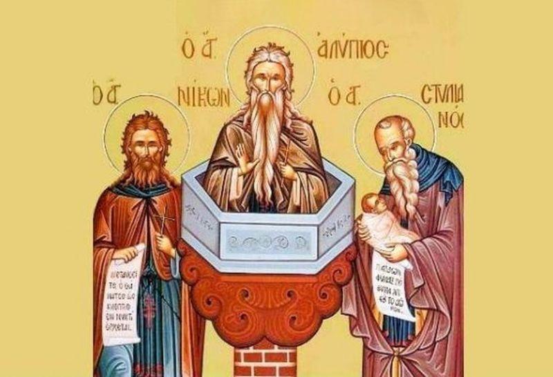 Sfinţii Cuvioşi Alipie Stâlpnicul, Nicon şi Stelian Paflagonul (26 noiembrie) - foto preluat de pe ziarullumina.ro