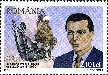 Anastase Dragomir (n. 1896 - d. 1966) a fost un inventator român din domeniul aviației, cel mai cunoscut pentru invenția unei versiuni timpurii a unui scaun ejectabil, care a fost brevetată la Paris, în 1930, de care a beneficiat împreună cu un alt inventator român, Tănase Dobrescu - foto: ro.wikipedia.org