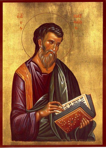 Sfântul, slăvitul și mult lăudatul Apostol și Evanghelist Matei este considerat, în mod tradițional, autorul Evangheliei după Matei. Simbolul apostolului este un înger. El este prăznuit de Biserică în 16 noiembrie dar și în 30 iunie împreună cu cei Doisprezece - foto: doxologia.ro