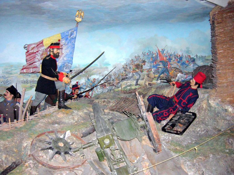 Dioramă ce ilustrează asediul Plevnei la Muzeul Militar Naţional - foto preluat de pe ro.wikipedia.org