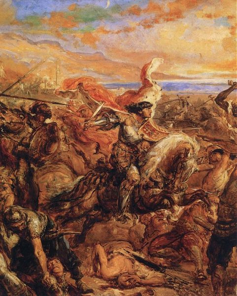 Bătălia de la Varna (10 noiembrie 1444) Władysław III of Poland leading the cavalry charge, by Jan Matejko -  foto preluat de pe ro.wikipedia.org
