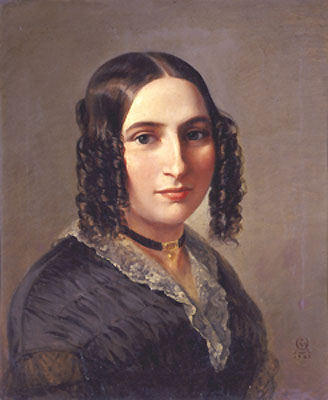 Fanny Mendelssohn (14 November 1805 – 14 May 1847), after her marriage, Fanny Hensel, 1842, by Moritz Daniel Oppenheim - foto: en.wikipedia.org