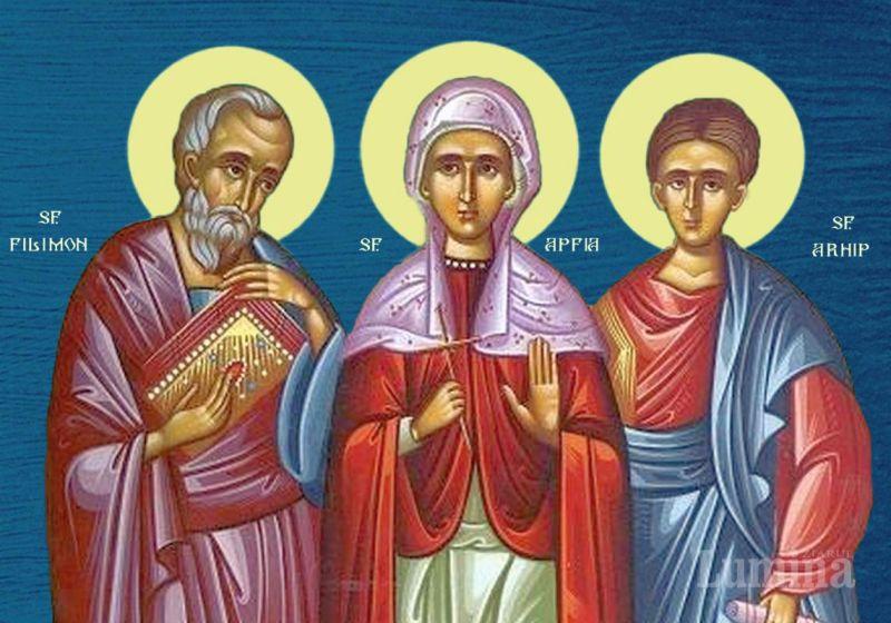 Sf. Ap. Filimon, Apfia şi Arhip (†68 d.Hr.) - foto preluat de pe ziarullumina.ro