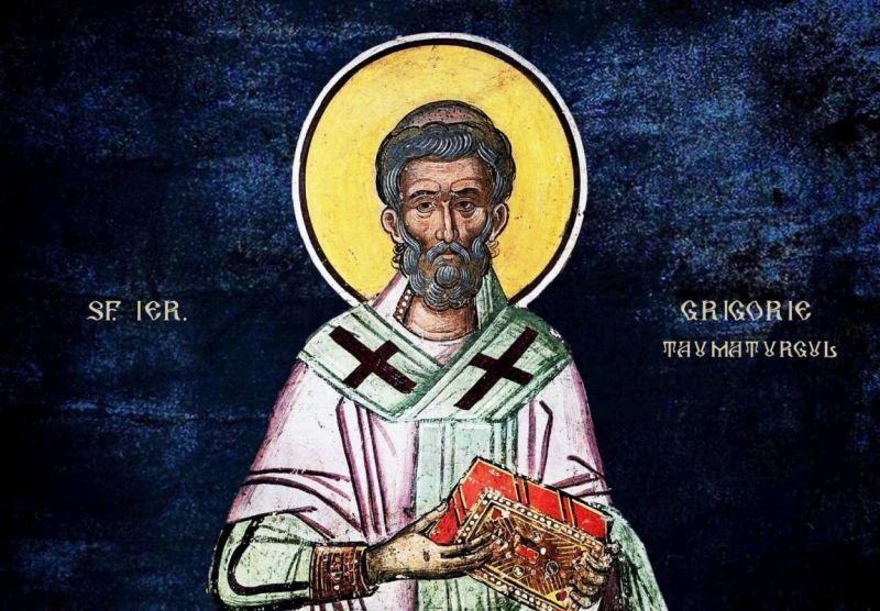 Sf. Ier. Grigorie Taumaturgul, Episcopul Neocezareei (213 – 270/275 d.Hr.) - foto preluat de pe ziarullumina.ro