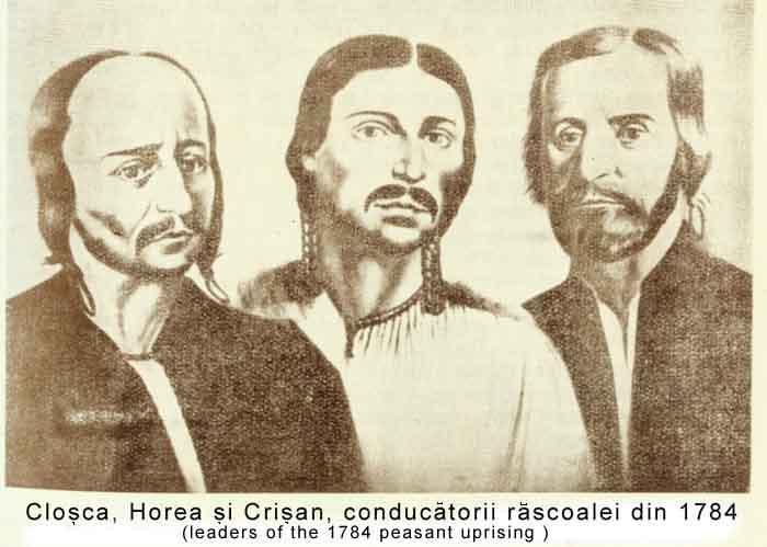 Horea, Cloşca şi Crişan, conducatorii rascoalei din 1784 - foto: alba24.ro