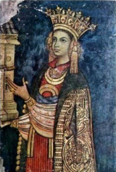 """Maria Oltea (c. 1405-1407 - d. 4 noiembrie 1465) cunoscută și sub numele de Doamna Oltea a fost mama lui Ștefan cel Mare. Nu se știe cu certitudine dacă a fost sau nu soția domnitorului Bogdan al II-lea. În lucrarea Princeps Omni Laude Maior. O istorie a lui Ștefan cel Mare istoricul Ștefan Gorovei scrie că """"este foarte probabil că Oltea nu a fost soție legiuită a lui Bogdan al II-lea și, prin urmare, nici doamnă a Moldovei"""" - foto: cersipamantromanesc.wordpress.com"""