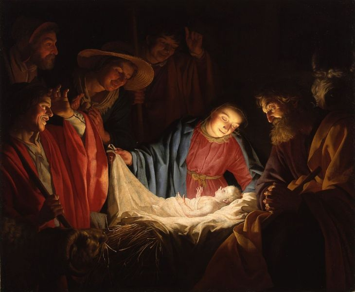 """Adoration of the Shepherds"" by Gerard van Honthorst, 1622 - foto: en.wikipedia.org"
