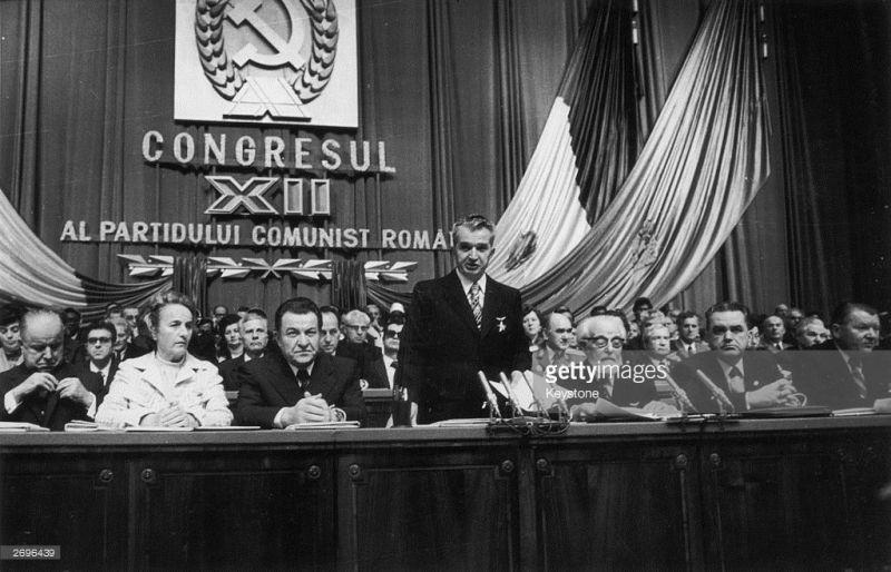 Nicolae Ceaușescu (n. 26 ianuarie 1918,[1][2][3] Scornicești, România[2] – d. 25 decembrie 1989,[1][3] Târgoviște, România) a fost un om politic comunist român, secretar general al Partidului Comunist Român, șeful de stat al Republicii Socialiste România din 1967 până la căderea regimului comunist, survenită în 22 decembrie 1989 - foto: gettyimages.com