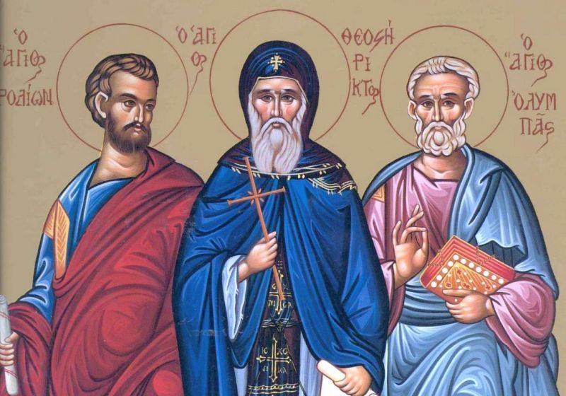 Sf. Ap. Olimp, Rodion, Sosipatru, Erast, Terțiu și Cvart; Sf. Mc. Orest (10 noiembrie) - foto preluat de pe ziarullumina.ro