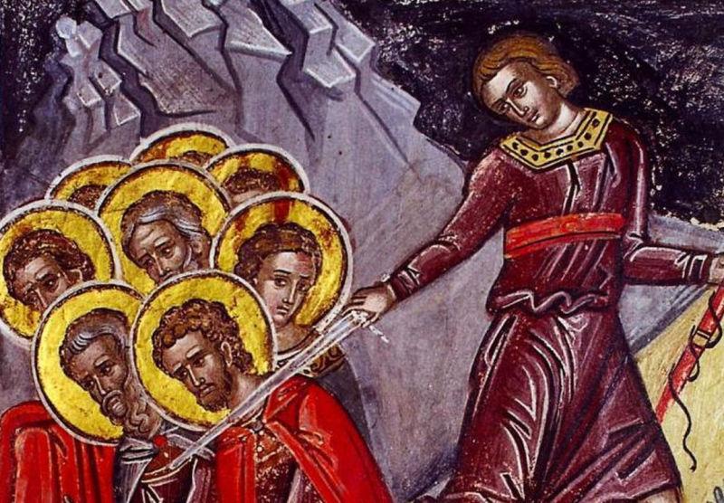 Sfinţii 10 Mucenici din Creta (†250) - foto preluat de pe ziarullumina.ro