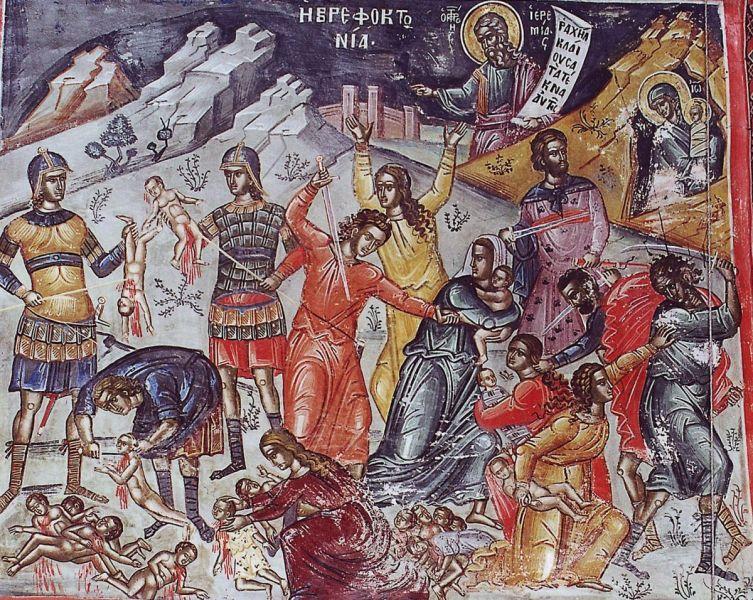 Sfinții 14 000 de Prunci, uciși de Irod sunt cei 14.000 de prunci uciși de regele Irod în Betleem după Nașterea Domnului, ei devenind astfel primii mucenici pentru Hristos. Biserica Ortodoxă îi prăznuiește la 29 decembrie - foto: doxologia.ro