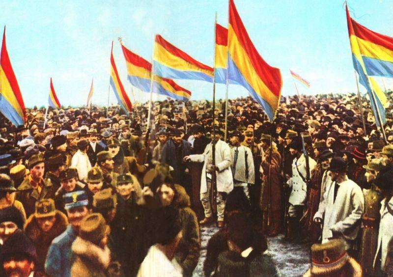 Adunarea Naţională a Românilor de la Alba Iulia 1 decembrie 1918 - foto preluat de pe cersipamantromanesc.wordpress.com