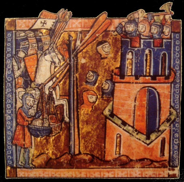 Asediul de la Ma'arra, parte din Prima Cruciadă (12 decembrie 1098) - foto preluat de pe ro.wikipedia.org