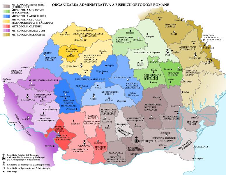 Organizarea administrativă a Bisericii Ortodoxe Române - foto: ro.orthodoxwiki.org