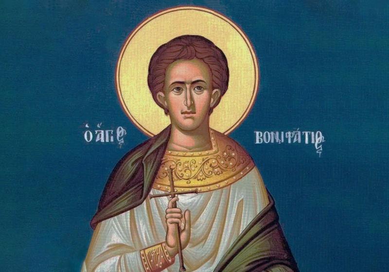 Sf. Mc. Bonifatie (†307) - foto preluat de pe ziarullumina.ro