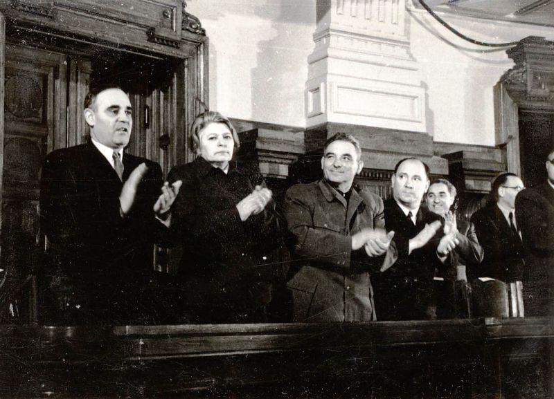 Dej, Ana Pauker, Vasile Luca, Valter Roman, Teohari Georgescu, Vasile Mârza la de-a 10-a sesiuni a Marii Adunări Naţionale din 1951 - foto: ro.wikipedia.org