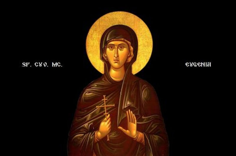 Sf. Cuv. Mc. Eugenia (180/183 - 258/262) -  foto preluat de pe ziarullumina.ro