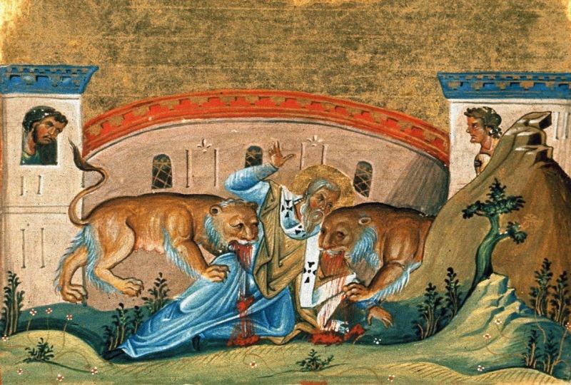 Sf. Sfinţit Mc. Ignatie Teoforul, episcopul Antiohiei (†107)  - foto preluat de pe ziarullumina.ro