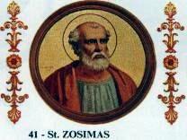 Papa Zosim a fost Papă al Romei în perioada 18 martie 417 - 26 decembrie 418 - foto preluat de pe ro.wikipedia.org