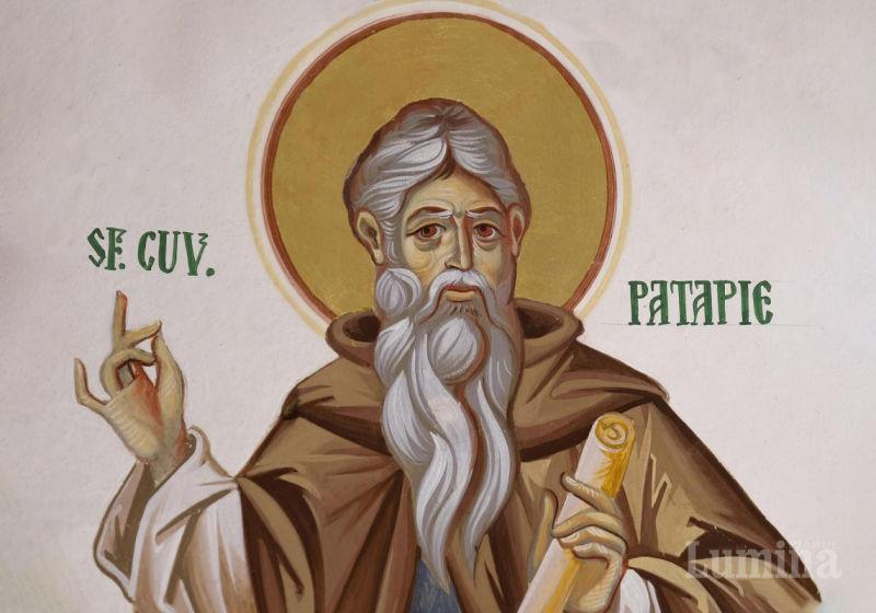 Sfântul Cuvios Patapie (380 - 463) - foto preluat de pe ziarullumina.ro