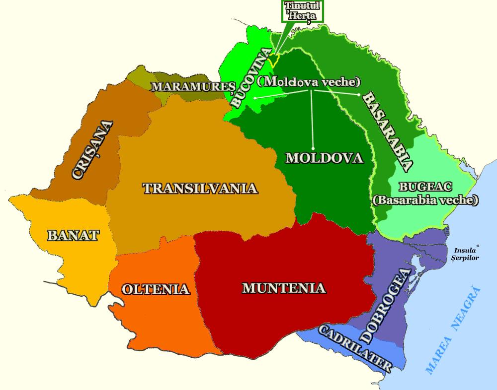Regiunile României - foto: ro.wikipedia.org