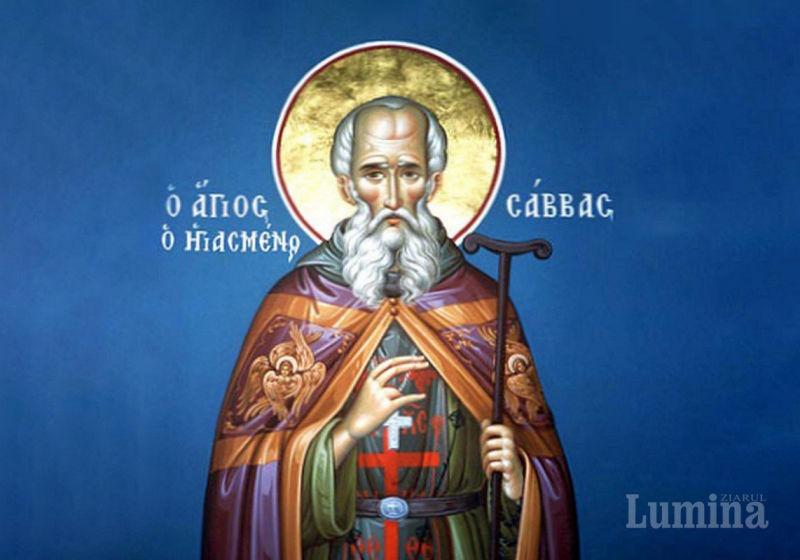 Sfântul Cuvios Sava cel Sfințit (439 - 532) - foto preluat de pe ziarullumina.ro