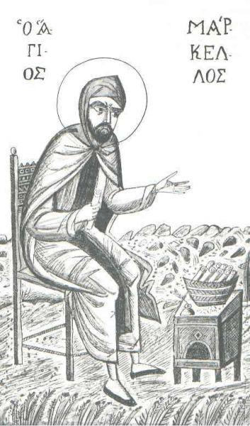 Sfântul Cuvios Marcel. Prăznuirea sa de către Biserica Ortodoxă se face la data de 29 decembrie - foto: doxologia.ro