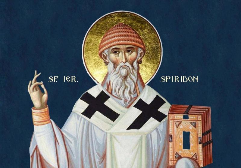 Sf. Ier. Spiridon, episcopul Trimitundei, făcătorul de minuni (270 - 348) - foto preluat de pe ziarullumina.ro