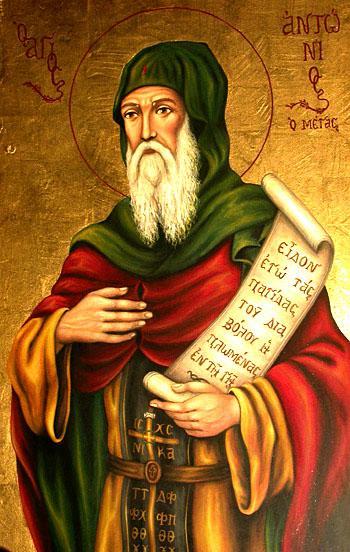 """Sfântul Antonie cel Mare (251-356), """"părintele monahilor"""", este poate cel mai popular ascet și socotit a fi începătorul vieții călugărești. Este considerat de tradiția monastică drept întemeietor al monahismului, împreună cu Sfântul Pahomie cel Mare. Prăznuirea lui se face la data de 17 ianuarie în toate tradițiile creștine - foto: doxologia.ro"""