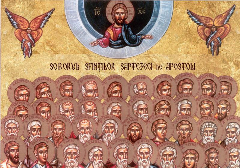 Soborul Sf. 70 de Apostoli (4 ianuarie) - foto preluat de pe ziarullumina.ro
