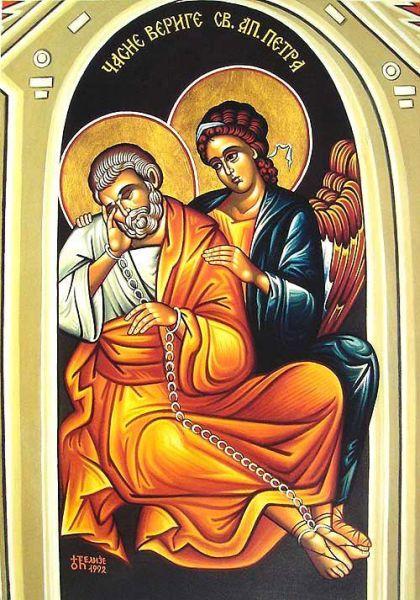 Cinstirea lanțului Sfântului Apostol Petru - foto: doxologia.ro