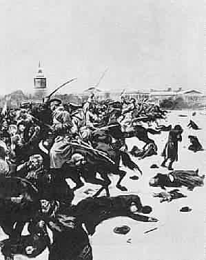 Masacrul din Duminica însângerată din Sankt Peterburg (22 ianuarie 1905) - foto preluat de pe ro.wikipedia.org