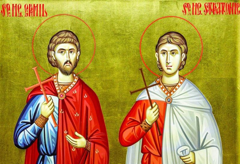 Sf. Mc. Ermil și Stratonic (secolele III – IV) - foto preluat de pe ziarullumina.ro