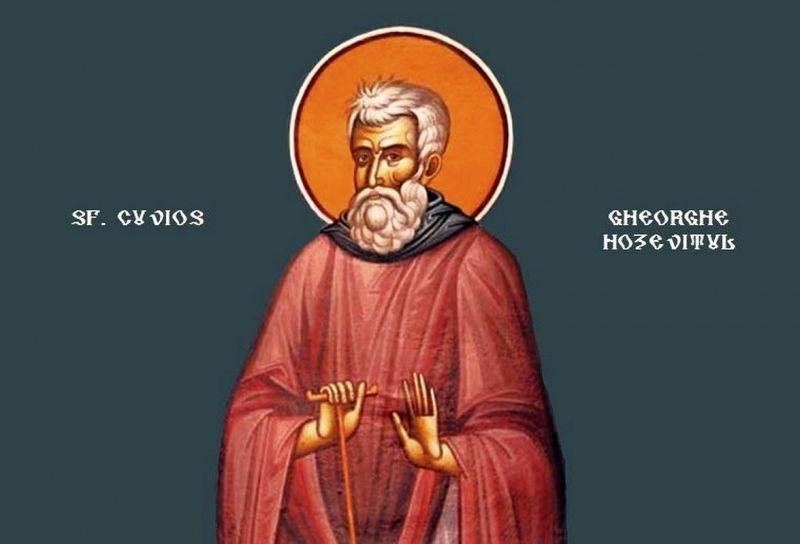 Sf. Cuv. Gheorghe Hozevitul (Sec. al VI - VII-lea) - foto preluat de pe ziarullumina.ro