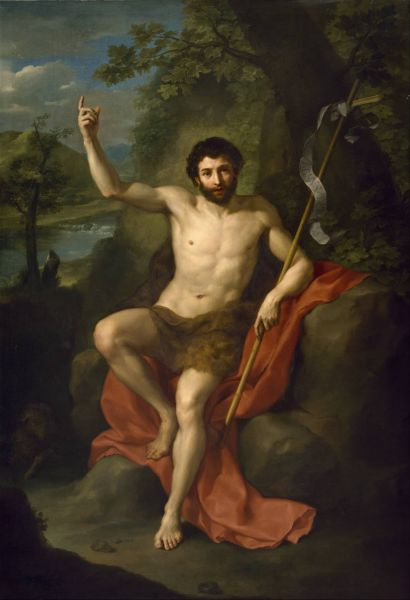 John the Baptist Preaching in the Wilderness by Anton Raphael Mengs, 1760 - foto: en.wikipedia.org