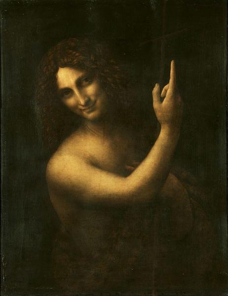 Sfantul Ioan Botezatorul de Leonardo da Vinci - foto preluat de pe ro.wikipedia.org