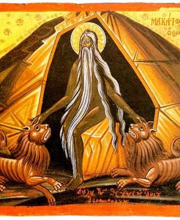 Sfântul Cuvios Macarie Alexandrinul. Pomenirea sa de către Biserica Ortodoxă se face la 19 ianuarie - foto: doxologia.ro