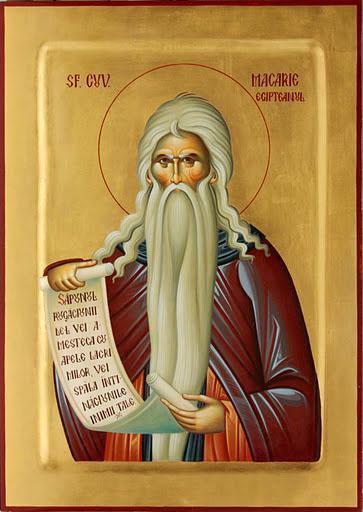 Sfântul Macarie cel Mare (295-392 d. Hr.), cunoscut și ca Macarie Egipteanul, a fost unul dintre Părinții pustiei egiptene cu cea mai mare autoritate, fiind ucenic al sfântului Antonie cel Mare. Biserica Ortodoxă îl pomenește pe 19 ianuarie. Biserica Coptă îl pomenește pe 5 aprilie (Baramhat 27 după calendarul copt) și pe 25 august (19 Mesra), data întoarcerii moaștelor sale la mănăstirea sa din pustia schetică. Biserica Romano-Catolică îl pomenește pe 15 ianuarie - foto: basilica.ro