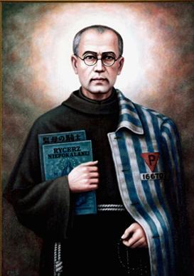 Maximilian Kolbe (n. 7 ianuarie 1894, Zduńska Wola, azi Polonia - d. 14 august 1941, Auschwitz) a fost un călugăr franciscan, preot romano-catolic din Polonia, decedat în lagărul de concentrare de la Auschwitz. A fost canonizat în anul 1984. Este sărbătorit la 14 august - foto: ro.wikipedia.org