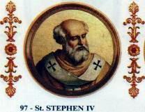 Papa Ștefan al IV-lea (+ 24 ian. 817 la Roma) a fost papă al Romei din 22 iunie 816 - foto preluat de pe ro.wikipedia.org
