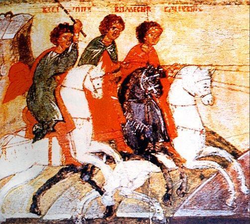 Sfinții Mucenici Pevsip, Elasip și Mesip. Pomenirea lor de către Biserica Ortodoxă se face la 16 ianuarie - foto: doxologia.ro