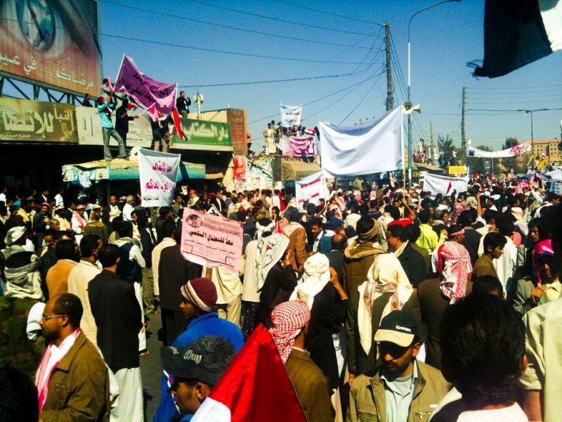 Yemeni Revolution - Anti-government protest in Sana'a on 3 February 2011 - foto: en.wikipedia.org