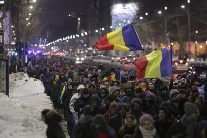 """Protest """"NU Legii Gratierii Si Amnistiei"""" (București - 18 ianuarie 2017) - foto: marturiilehierofantului.blogspot.ro"""