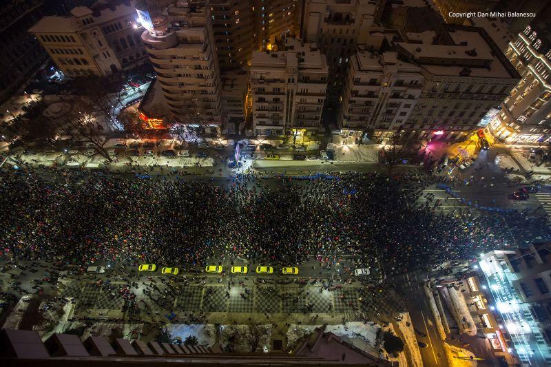 """Protest """"NU Legii Gratierii Si Amnistiei"""",  (București - 22 ianuarie 2017) - foto: Dan Mihai Balanescu"""