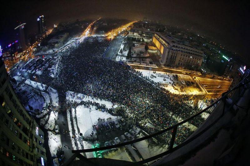 """Protest """"NU Legii Gratierii Si Amnistiei"""",  (București - 22 ianuarie 2017) - foto: Cristian Vasile"""