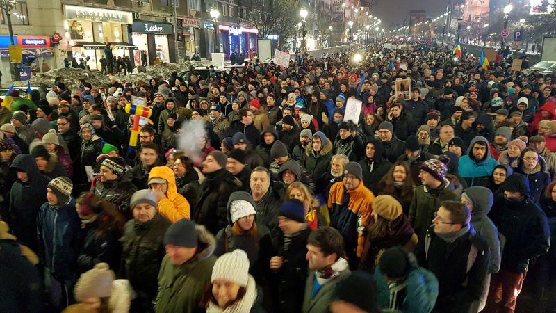 """Protest """"NU Legii Gratierii Si Amnistiei"""",  (București - 29 ianuarie 2017) - foto: Sergiu Nicolae Brega"""