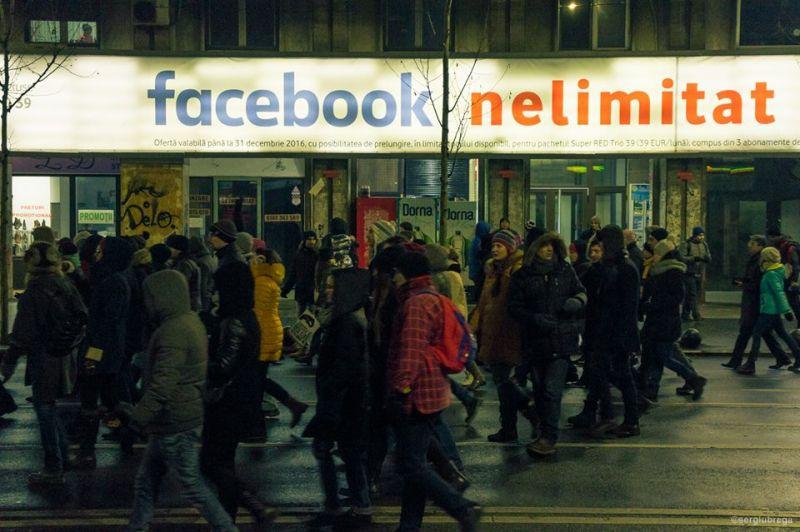 """""""Protest organizat pe facebook"""" (Protest """"NU Legii Gratierii Si Amnistiei"""",  București - 29 ianuarie 2017) - foto: Sergiu Nicolae Brega"""